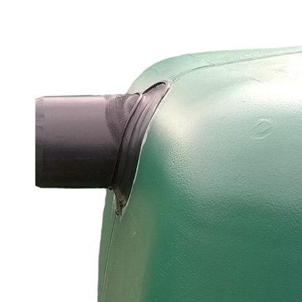 Zulaufanschluss für Regenwassertank, PE, Aufpreis, Ø110mm geschweißt