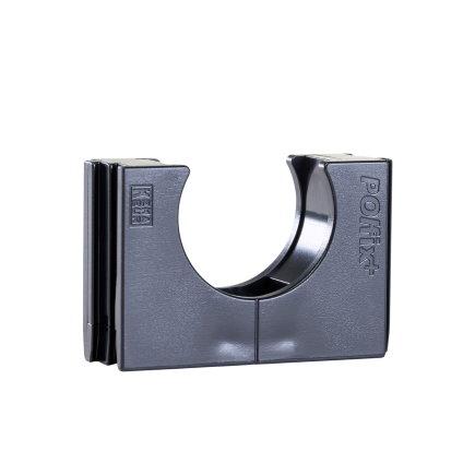 Polfix buisklem, zwart, 16 mm