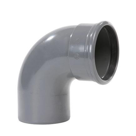 Pipelife pvc bocht 88°, manchet x spie, grijs, KOMO, SN4, 160 mm  default 435x435