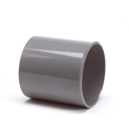 Pvc mof, 2x inwendig lijm, grijs, KOMO, 160 mm  default 435x435