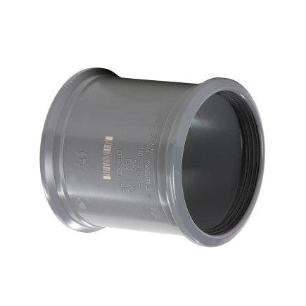 Pipelife pvc overschuifmof, 2x manchet, KOMO, SN4, 125 mm
