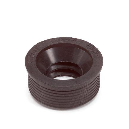 Rubberen overgangsstuk pvc/metaal, 40 x 30 mm