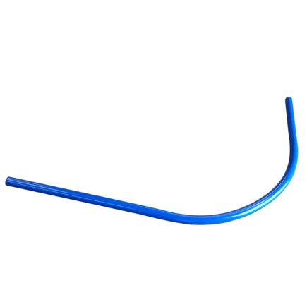 Pvc invoerbocht 90°, water/blauw, d = 50 mm, r = 750 mm, 1200 mm