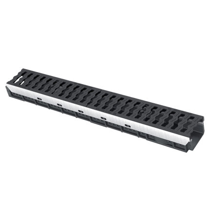 Nicoll pp lijngoot, Kenadrain HD100 Park, 2x GY golvend sleufrooster, 100 x 8 cm, C250  default 435x435