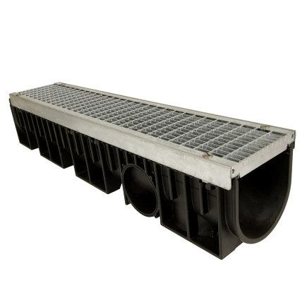 Nicoll pp lijngoot, Kenadrain HD150, met staal verzinkt maasrooster, 100 x 20,5 cm, B125  default 435x435