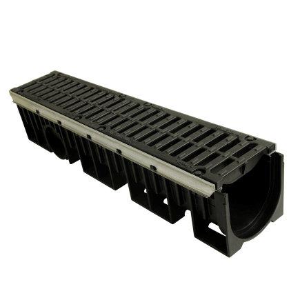 Nicoll pp lijngoot, Kenadrain HD150, met 2x GY sleufrooster, 100 x 20,5 cm, E600  default 435x435