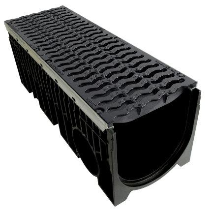 Nicoll pp lijngoot, Kenadrain HD300, 2x GY golvend sleufrooster, 100 x 36,9 cm, D400