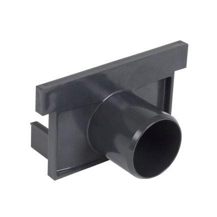 Nicoll pvc eind- / uitlaatstuk voor horizontale aansluiting, voor afvoergoot Kenadrain HD100, 50 mm  default 435x435