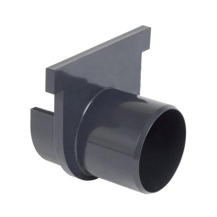 Nicoll pvc eind- / uitlaatstuk voor horizontale aansluiting, voor afvoergoot Kenadrain HD100, 75mm  default 435x435