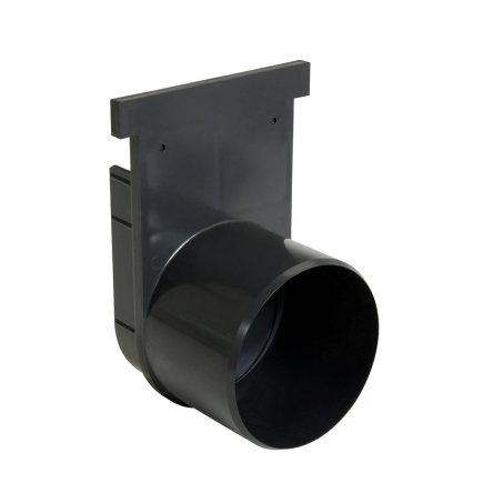 Nicoll pvc eind- / uitlaatstuk voor horizontale aansluiting, voor afvoergoot Kenadrain HD100, 110 mm  default 435x435