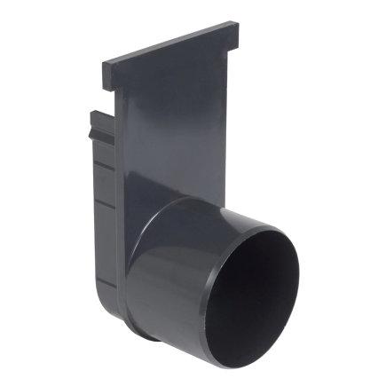 Nicoll pvc eind- / uitlaatstuk voor horizontale aansluiting, voor afvoergoot Kenadrain HD100, 110 mm