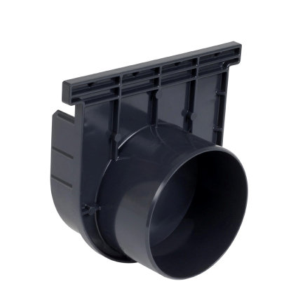 Nicoll pvc eind- / uitlaatstuk voor horizontale aansluiting, voor afvoergoot Kenadrain HD150, 125 mm  default 435x435