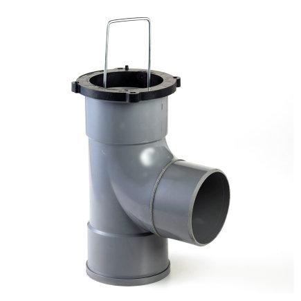 Nicoll zandvanger, type Connecto, pvc, 110 mm, 360° draaibaar, inbouwhoogte 30 cm