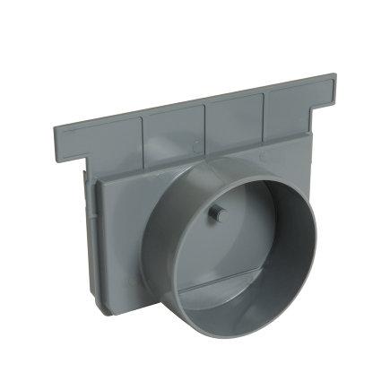 Nicoll eindkap, type Connecto 200, uitlaat 125 mm, grijs, voor art.nr. 254539, 254540 en 254542