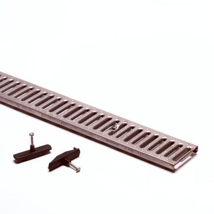 Anrin sleufrooster, gegalvaniseerd, type KE-100/ KF-100, met roosterbevestiging, l = 50 cm, klasse C  default 435x435