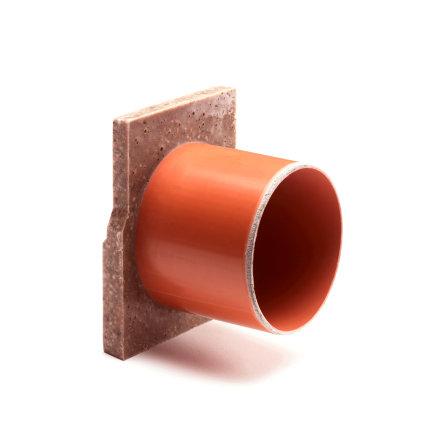 Anrin eindstuk voor lijngoot, type SELF-ECO, met uitloop Ø 110, 8 x 12 cm