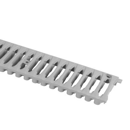 Nicoll pvc sleufrooster, type Connecto 100, lichtgrijs, l = 50 cm  default 435x435