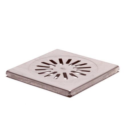 Rvs rooster voor douchesifon/vloerput, AISI 204, d = 2 mm, 150 x 150 mm  default 435x435