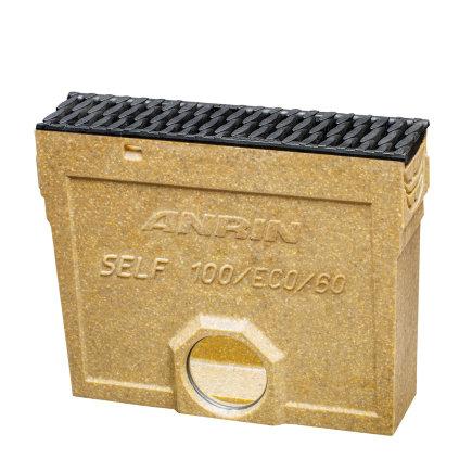 Anrin slibvangput voor lijngoot, type SELF-100/ECO/Mini, incl. kunststof rooster, met emmer, 50 cm