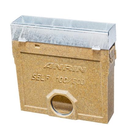 Anrin slibvangput voor lijngoot, SELF-Schlitz incl. revisions opzetstuk, emmer, gegalvaniseerd, 50cm