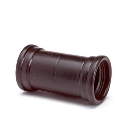 Dyka pp steekmof, zwart, 2x manchet, KOMO, 50 mm