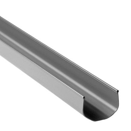 S-lon mini bakgoot, pvc, 65 mm, grijs, l = 4 m