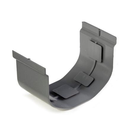 S-lon verbindingsstuk, pvc, 65 mm, grijs