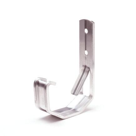 S-lon gootbeugel, aluminium, nr. 2, 65 mm, grijs