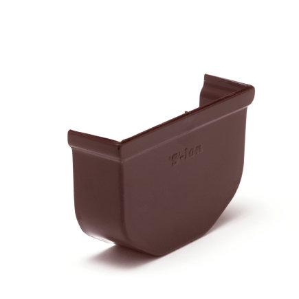S-lon eindstuk, pvc, 65 mm, bruin  default 435x435