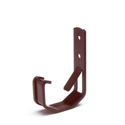 S-lon gootbeugel voor bakgoot Mini, aluminium, nr. 2, 65 mm, bruin