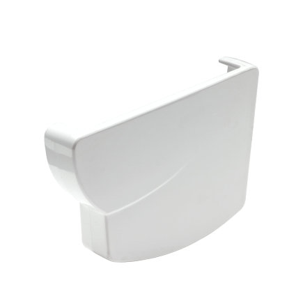 Nicoll Ovation Endstück, PVC, rechts, für Dachrinne, weiß, RAL9010, 125mm