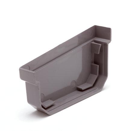 S-lon eindstuk, pvc, 95 mm, grijs, links  default 435x435