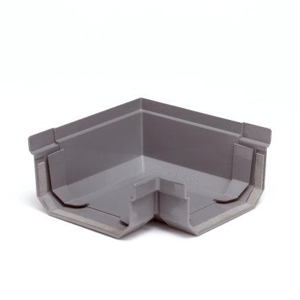 S-lon hoekstuk, pvc, 65 mm, grijs