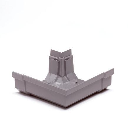 S-lon hoekstuk, pvc, 95 mm, grijs, buiten  default 435x435