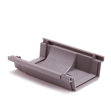 S-lon expansieverbindingsstuk voor bakgoot, pvc, 140 mm, grijs  default 435x435