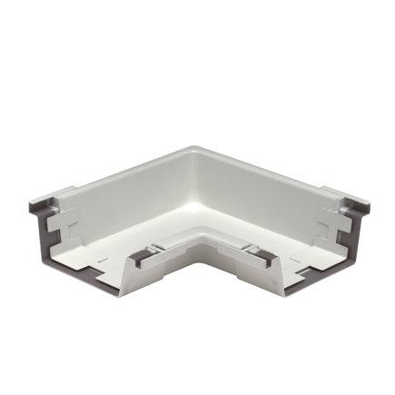S-lon binnenhoekstuk voor bakgoot, pvc, type 140, wit