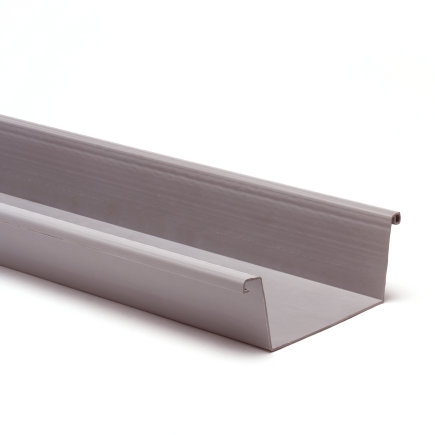 S-lon bakgoot, pvc, 140 mm, grijs, l = 4 m  default 435x435