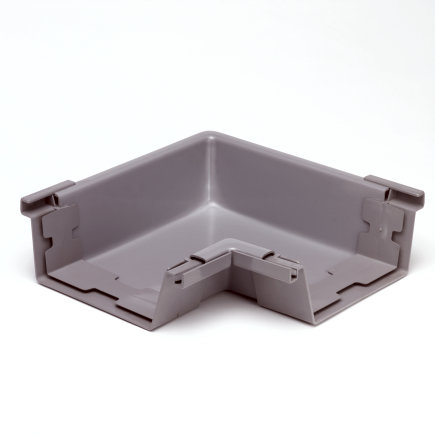 S-lon binnenhoekstuk voor bakgoot, pvc, 140 mm, grijs  default 435x435