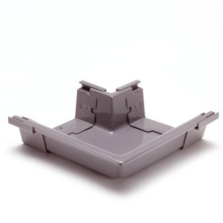 S-lon buitenhoekstuk voor bakgoot, pvc, 180 mm, grijs  default 435x435