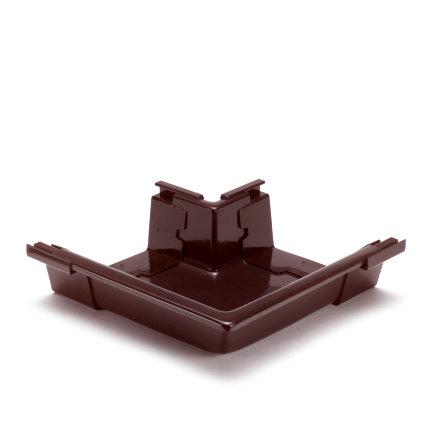 S-lon buitenhoekstuk voor bakgoot, pvc, 140 mm, bruin  default 435x435