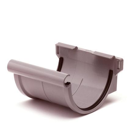 S-lon verbindingsstuk voor mastgoot, pvc, klem, grijs, 125 mm  default 435x435
