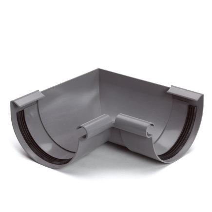 S-lon binnenhoekstuk voor mastgoot, pvc, klem, grijs, 125 mm