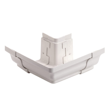 S-lon Tradition buitenhoekstuk, pvc, wit, 160 mm
