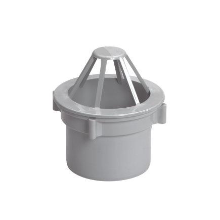 Uitloop met wartel, polyester, 80 mm, grijs  default 435x435
