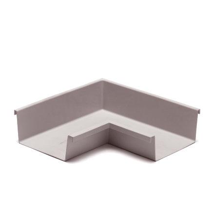 Rawinso binnenhoek voor bakgoot, polyester, lichtgrijs, RAL 7035, 170 mm