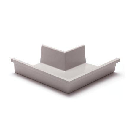 Rawinso Außenwinkel für Kastenrinne, Polyester, hellgrau, RAL7035, 205 mm