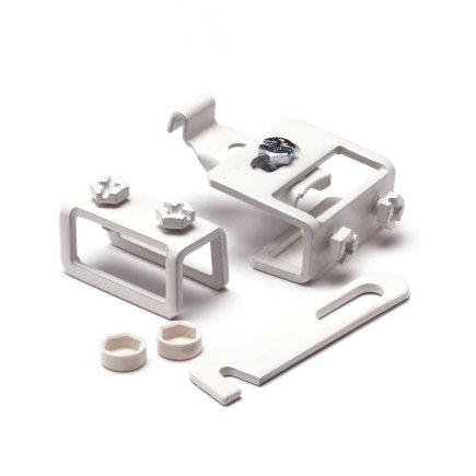 Rofix duo, complete standbuisset, standaard, voor type 10, 11, 20 en 21, wit (RAL 9010)