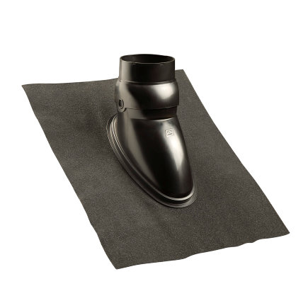 Ubbink dakdoorvoerpan, Ubiflex, 131 mm, universeel, met schaal, zwart, dakhelling 15 - 55°,500x600mm