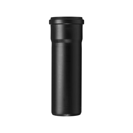 Ubbink verlengbuis luchttoevoer, pp, zwart, 80 mm, l = 250 mm