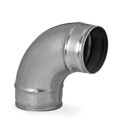 Spiraliet bocht 90°, 2x verjongd spie, 100 mm